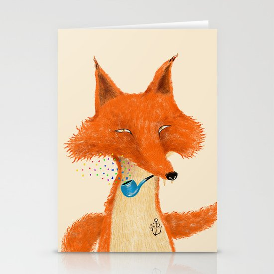 Fox III Stationery Cards