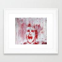 american psycho Framed Art Prints featuring AMERICAN PSYCHO by John McGlynn