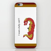 smaug iPhone & iPod Skins featuring Whiny Smaug by Rshido