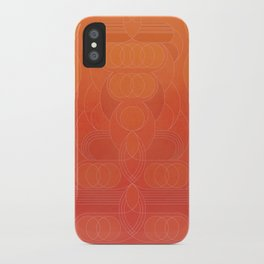 Round and About Coral iPhone Case