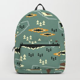 Native pattern with birds Backpack