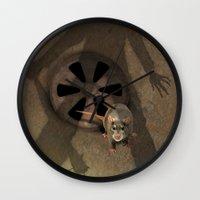 fear Wall Clocks featuring fear by ErsanYagiz