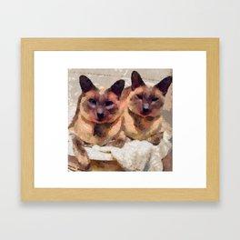 Siamese if you please Framed Art Print