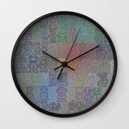 Colored Crowd Wall Clock