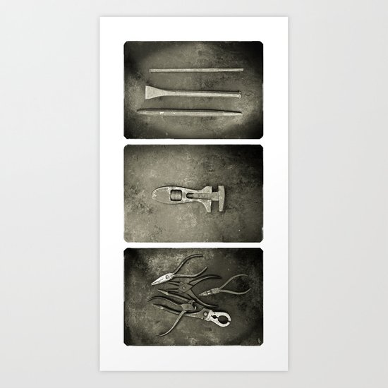 Dad used to make things (triptych two) Art Print