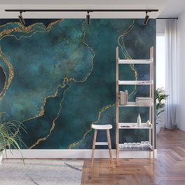 Golden Gemstone Glamour Mineral Wall Mural