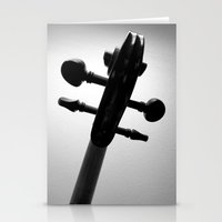 violin Stationery Cards featuring Violin by tracy-Me