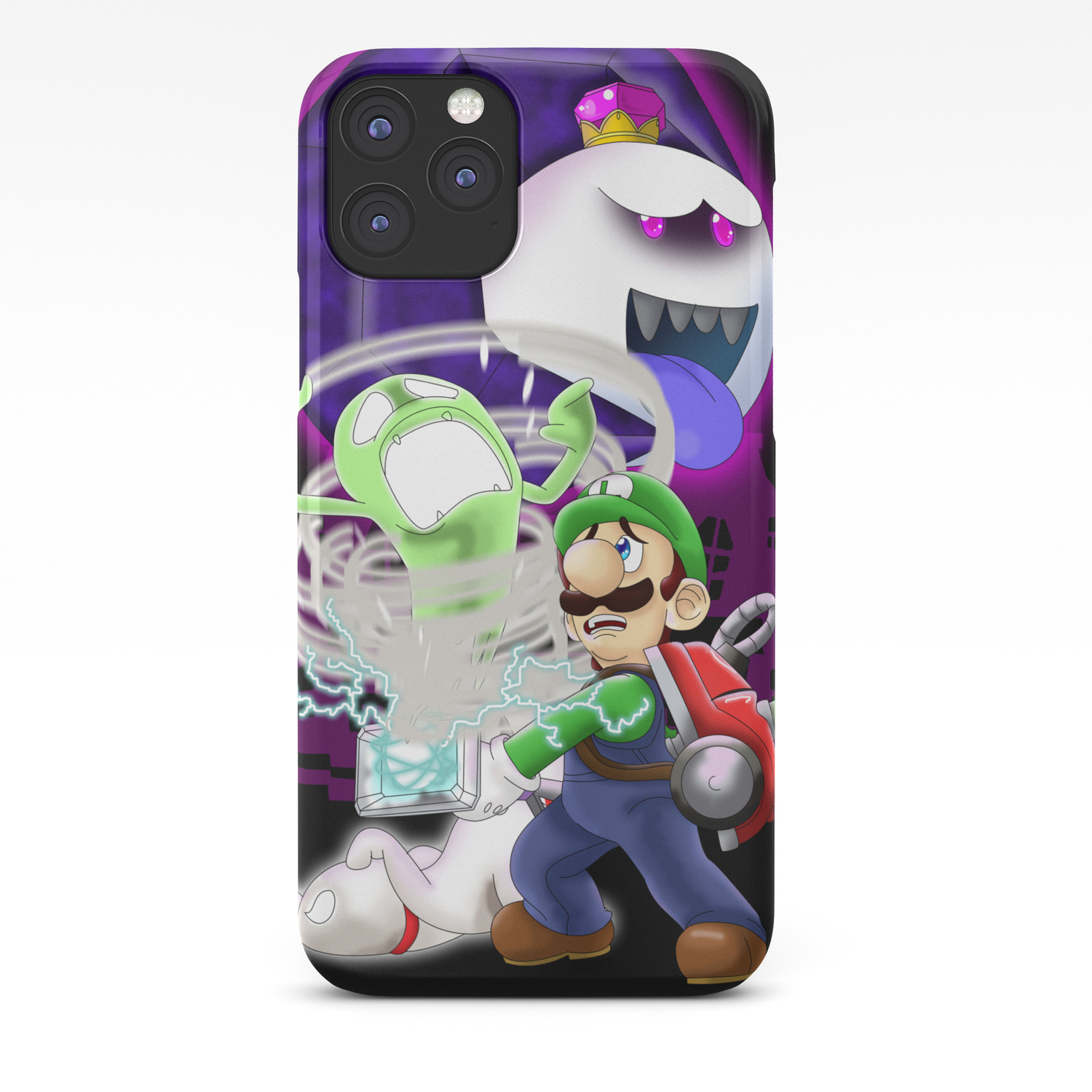 Luigi S Mansion Dark Moon Iphone Case By Kurewkreations Society6