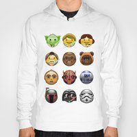 emoji Hoodies featuring Emoji Wars by Vincent Trinidad
