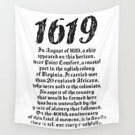 Project 1619 Established American Black History Wall Tapestry