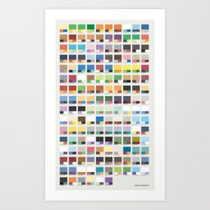 Poke-Pantone 5 (Unova Region) Art Print