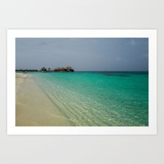 Good Times in the Maldives Art Print