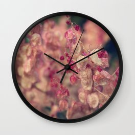 Rumex flower Wall Clock