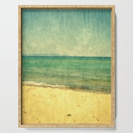 Seascape Vertical Abstract Serving Tray