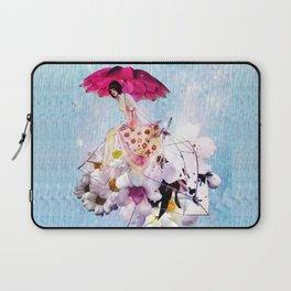 Rainy Bouquet Girl Laptop Sleeve