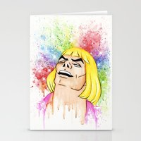 he man Stationery Cards featuring He-Man by Creadoorm
