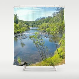 Magnificent tranquil river Shower Curtain