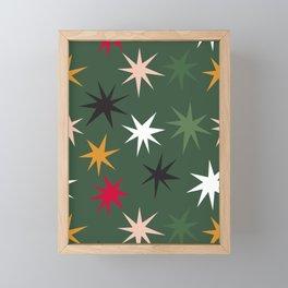 Colourful Sparkles - Dark Green Framed Mini Art Print