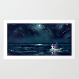 Night III - Moonsail Art Print