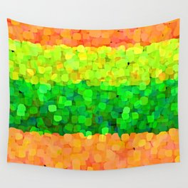Sparkle Glitter Orange Wall Tapestry