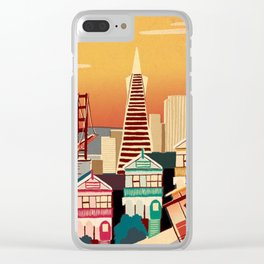 san francisco new art love illustration cute cover case skin floor pillow 2018 trend popular sticker Clear iPhone Case