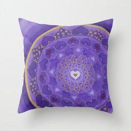 Divine Love Mandala Throw Pillow