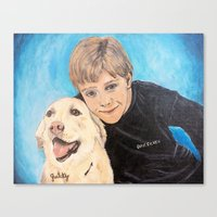 best friends Canvas Prints featuring Best Friends by gretzky