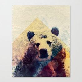 Vintage bear Canvas Print