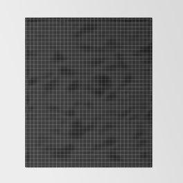 Grid in Black Throw Blanket