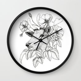 Wildrose Deer Wall Clock