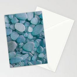 Japanese Sea Glass - Low Tide Blues II Stationery Cards