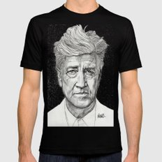 David Lynch Black Mens Fitted Tee LARGE