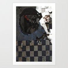 Hole in the floor Art Print