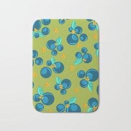 Blueberries | Green Bath Mat