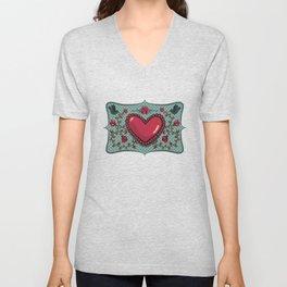 love and roses Unisex V-Neck