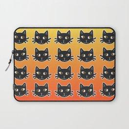 Black Cats Halloween Pattern Laptop Sleeve