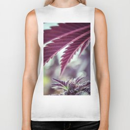 Covered in Cannabis marijuana plant weed photograph Biker Tank
