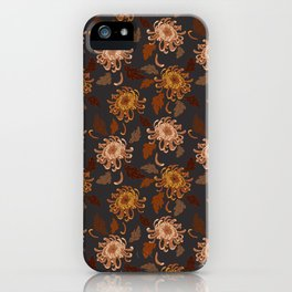 autumn chrysanthemums iPhone Case