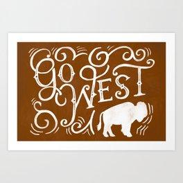 Go West Art Print