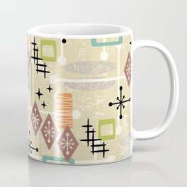 Retro Mid Century Modern Atomic Abstract Pattern 241 Coffee Mug