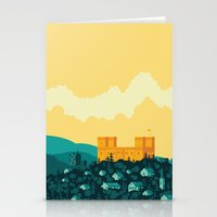 golden Stationery Cards featuring Golden castle by Roland Banrevi