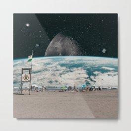 PLANET BEACH Metal Print