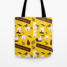 Chocolate Wasted (yellow) Tote Bag