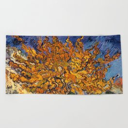 The Mulberry Tree by Vincent van Gogh Beach Towel