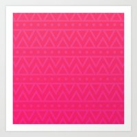 Art Print featuring coral tribal by Sara Chapin