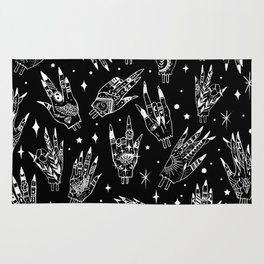 Floating Witchy Goth Hands Rug