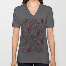 Vintage & Shabby Chic - Pastel Spring Flower Medow Unisex V-Ausschnitt