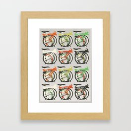 Folded Brompton Bicycle Framed Art Print