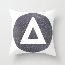 Bastille glitter triangle round Throw Pillow