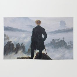 Wanderer above the Sea of Fog Painting by Caspar David Friedrich Rug